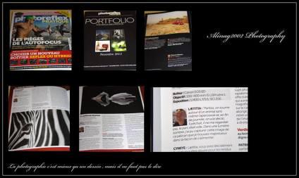 Publications dans Photo reflexe pratique plusieurs fois durant l 'année 2014