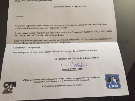 2 ème prix du concours de Brie Comte robert 2015