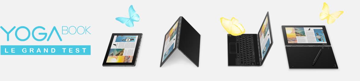 Test de la tablette Yoga book Lenovo