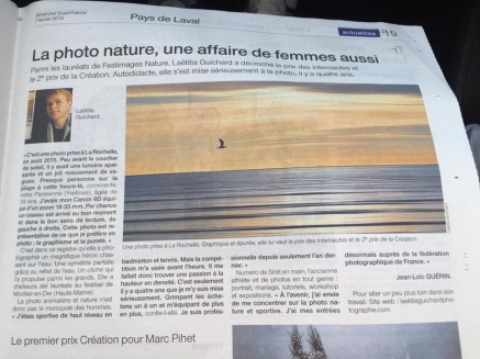 Article Ouest France février 2016